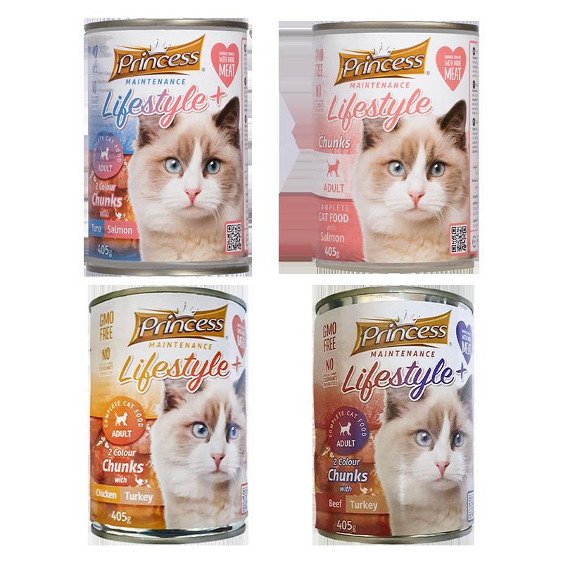 عکس باندل بسته کنسرو غذای گربه پرینسس مدل Adult Pack مجموعه ۴ عددی