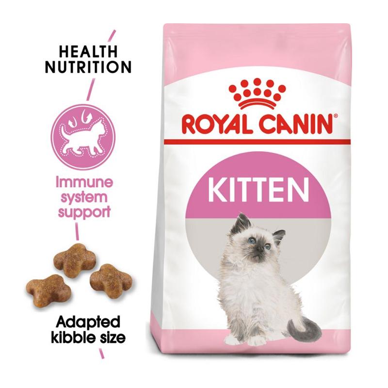 عکس جزییات بسته بندی غذای خشک گربه رویال کنین مدل Kitten وزن 1 کیلوگرم