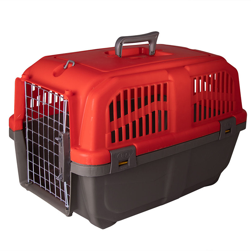 عکس باکس حمل سگ و گربه هپی پت مدل پانیتو رنگ قرمز