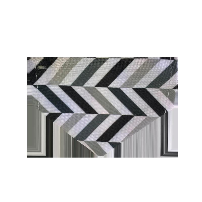 قلاده و دستمال گردن گربه نیناپت مدل طرح دار سفید مشکی