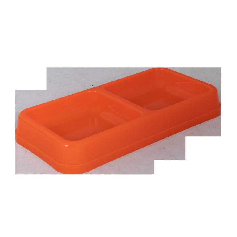 ظرف غذای دوقلو حیوانات آلوین مدل میشو رنگ نارنجی 1