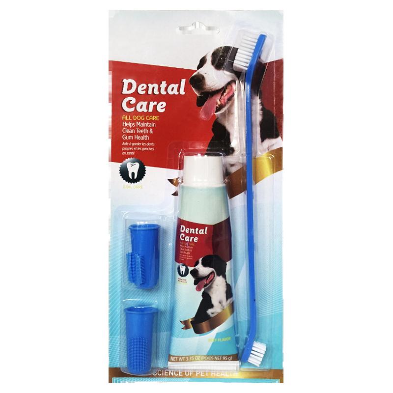 عکس بسته بندی ست مسواک و خمیر دندان سگ کوزرو مدل Dental Care