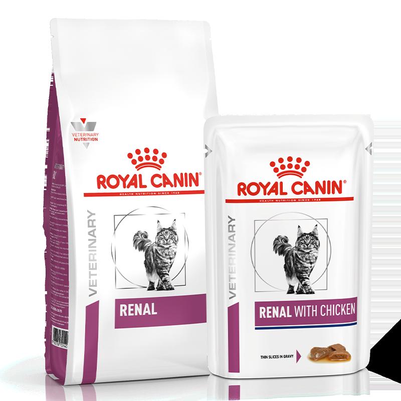 عکس بسته بندی غذای خشک و تر بسته غذای خشک و تر گربه رویال کنین مدل Renal