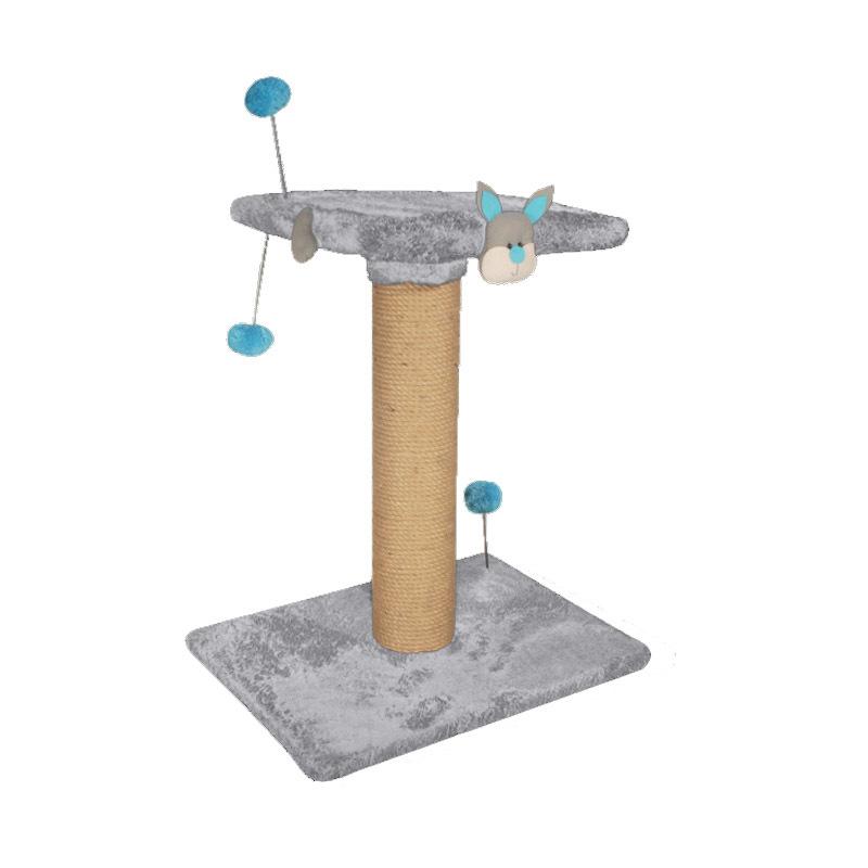 عکس اسکرچر دو طبقه نیناپت مدل عروسک دار رنگ طوسی آبی