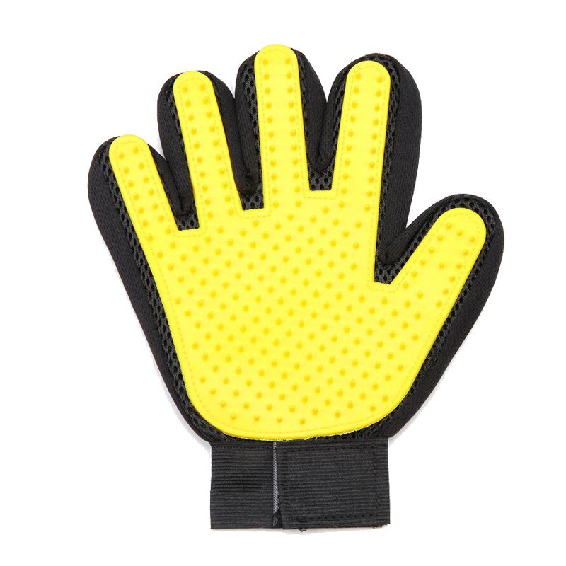 عکس دستکش ماساژ حیوانات سویل پت مدل Prime رنگ زرد