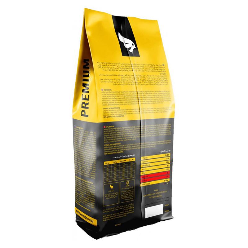 عکس جزییات بسته بندی غذای خشک گربه مفید مدل Adult Premium وزن 4 کیلوگرم