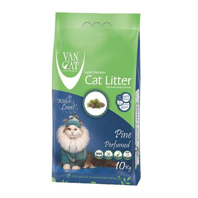 عکس بسته بندی خاک گربه ون کت مدل Pine وزن 10 کیلوگرم