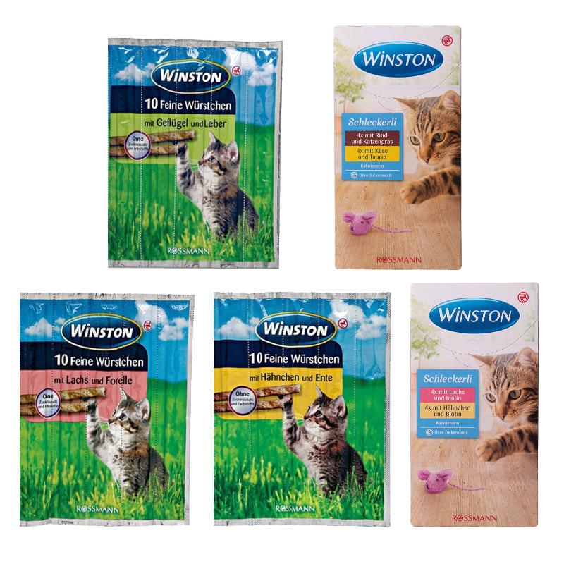 عکس باندل بسته تشویقی مدادی و بستنی گربه وینستون مدل Winstone Pack مجموعه 5 عددی