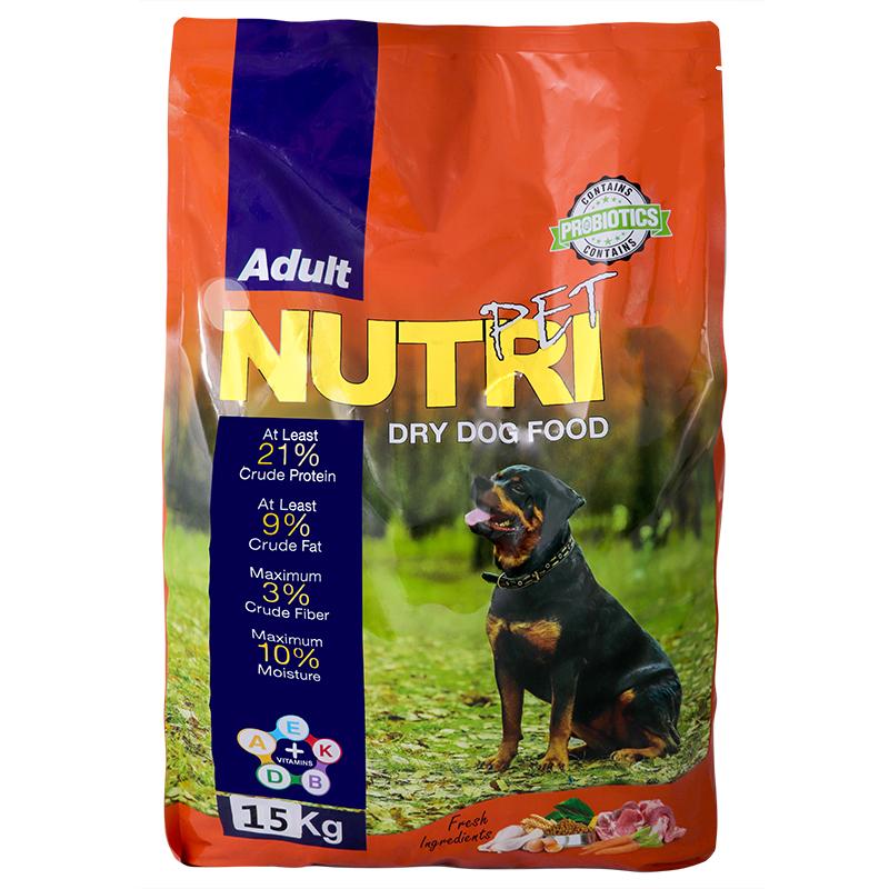 عکس بسته بندی غذای خشک سگ نوتری مدل Adult 21 وزن 15 کیلوگرم