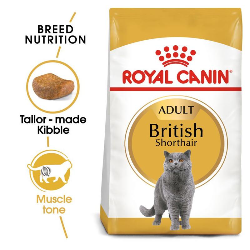 عکس جزییات بسته بندی غذای خشک گربه رویال کنین مدل Adult British ShortHair وزن 4 کیلوگرم