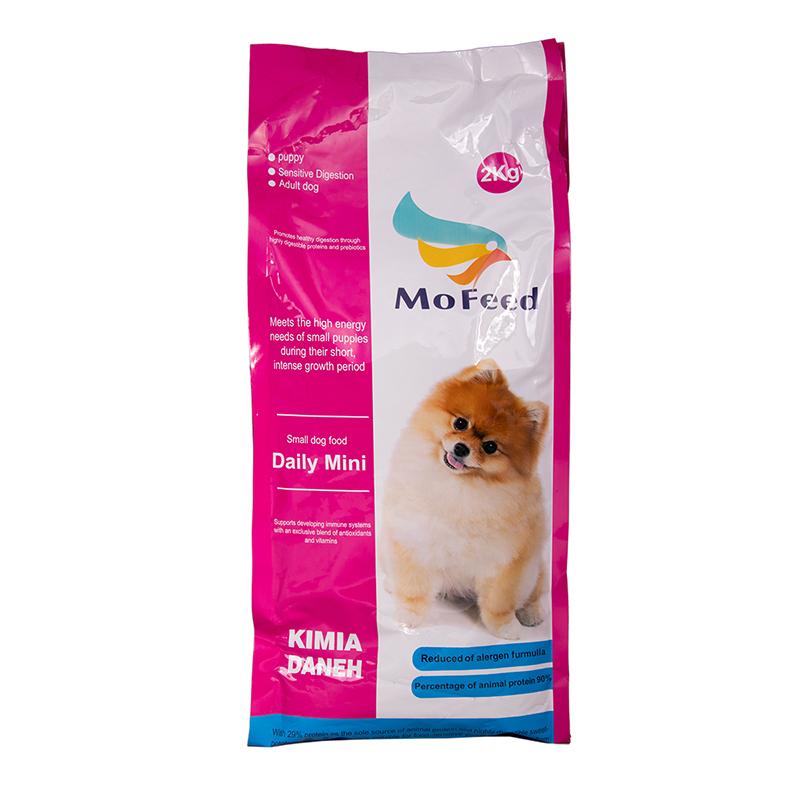 عکس بسته بندی غذای خشک سگ مفید مدل Daily Mini وزن 2 کیلوگرم