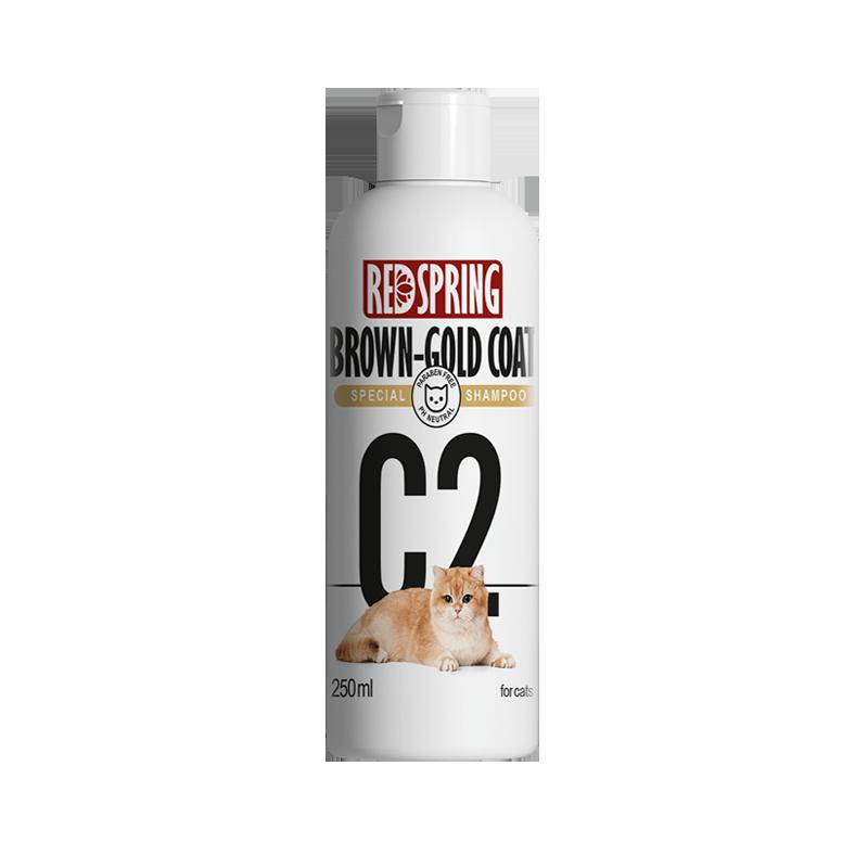 شامپو گربه رداسپرینگ مدل C2 مخصوص موهای قهوه ای و طلایی حجم 250 میلی لیتر