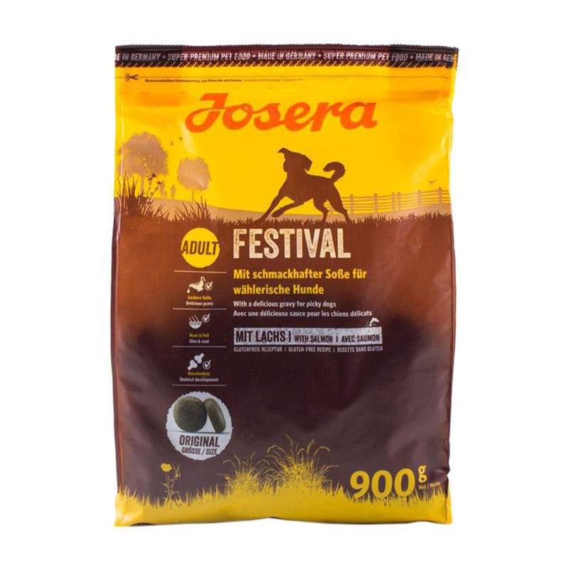 عکس بسته بندی غذای خشک سگ جوسرا مدل ADULT FESTIVAL وزن 900 گرم