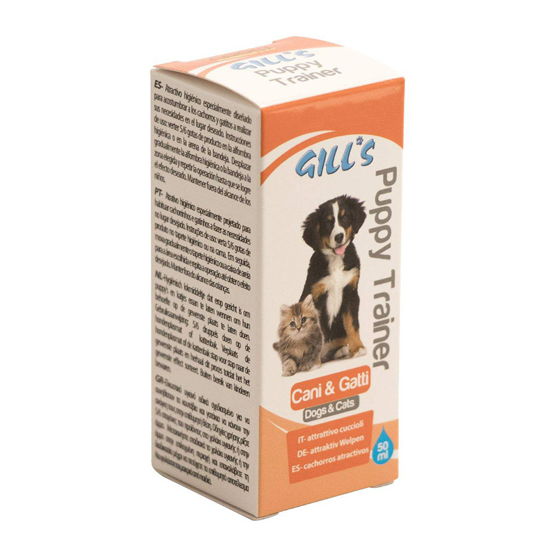 عکس بسته بندی قطره تعلیم ادرار و مدفوع سگ و گربه کروچی مدل Gills PT حجم 50 میلی لیتر