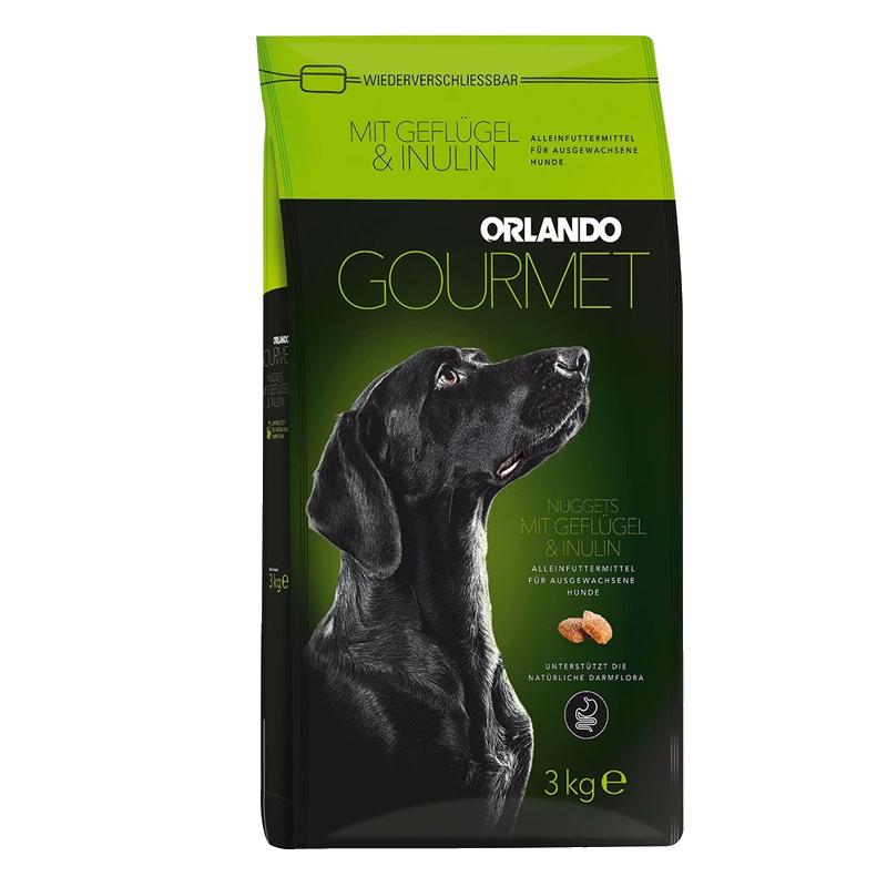 عکس روی بسته بندی غذای خشک سگ اورلاندو مدل All Breeds Adult وزن 3 کیلوگرم