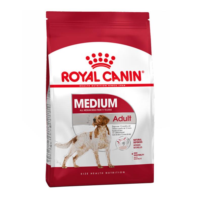 عکس بسته بندی غذای خشک سگ رویال کنین Medium Adult وزن 4 کیلوگرم