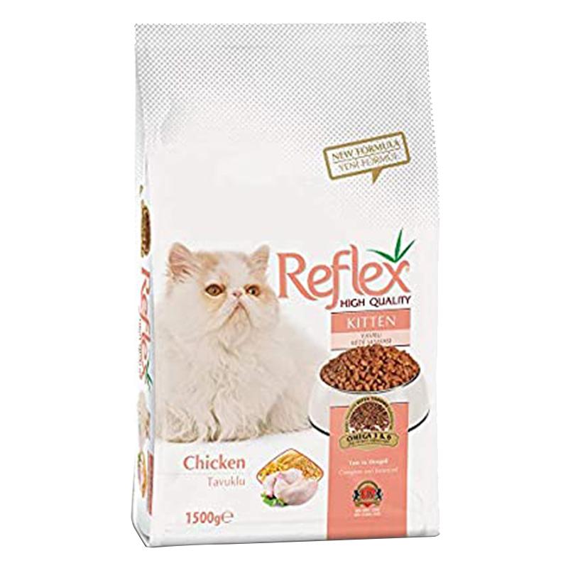 عکس بسته بندی غذای خشک گربه رفلکس مدل Kitten وزن 3 کیلوگرم
