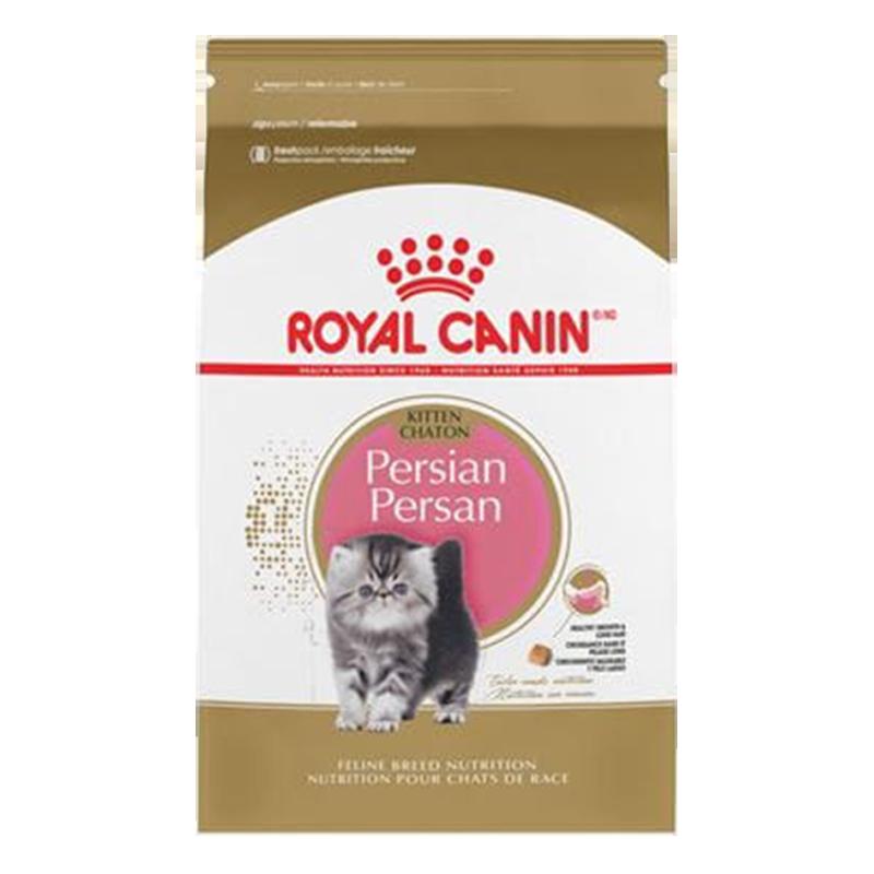 عکس بسته بندی غذای خشک گربه رویال کنین مدل Kitten Persian وزن ۴۰۰ گرم