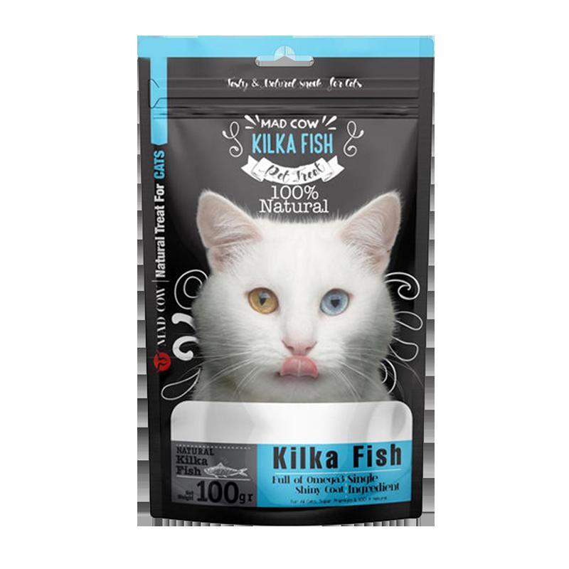 تشویقی گربه مدکاو مدل Kilka Fish وزن 100 گرم
