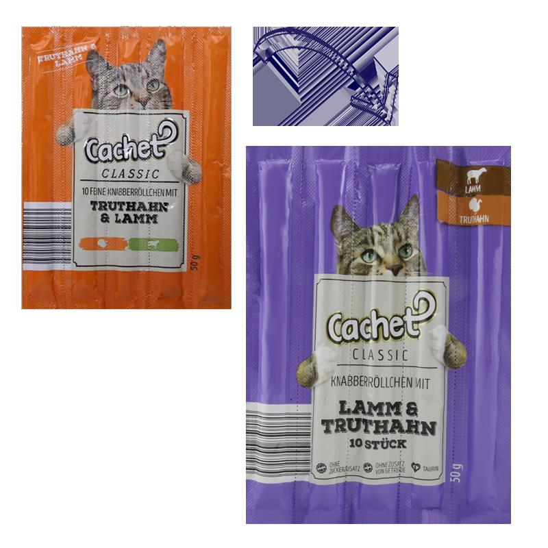 عکس تغییرات بسته بندی اسنک تشویقی گربه کچت مدل Turkey & Lamb بسته 5 عددی