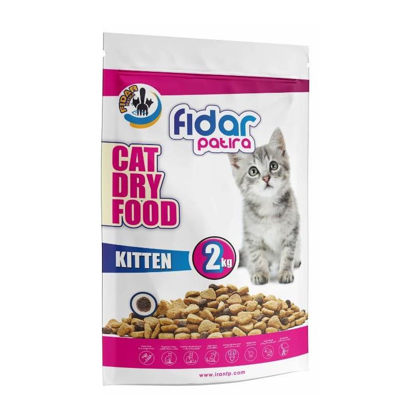 عکس بسته بندی غذای خشک بچه گربه فیدار مدل Kitten وزن 2کیلوگرم