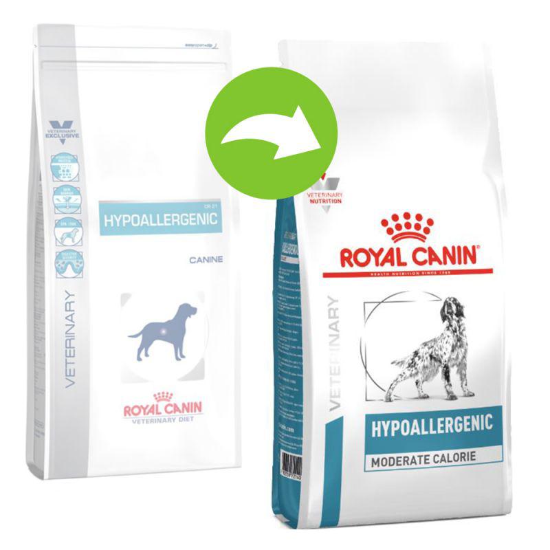 عکس تغییر بسته بندی غذای خشک سگ رویال کنین مدل HypoAllergenic وزن 2 کیلوگرم
