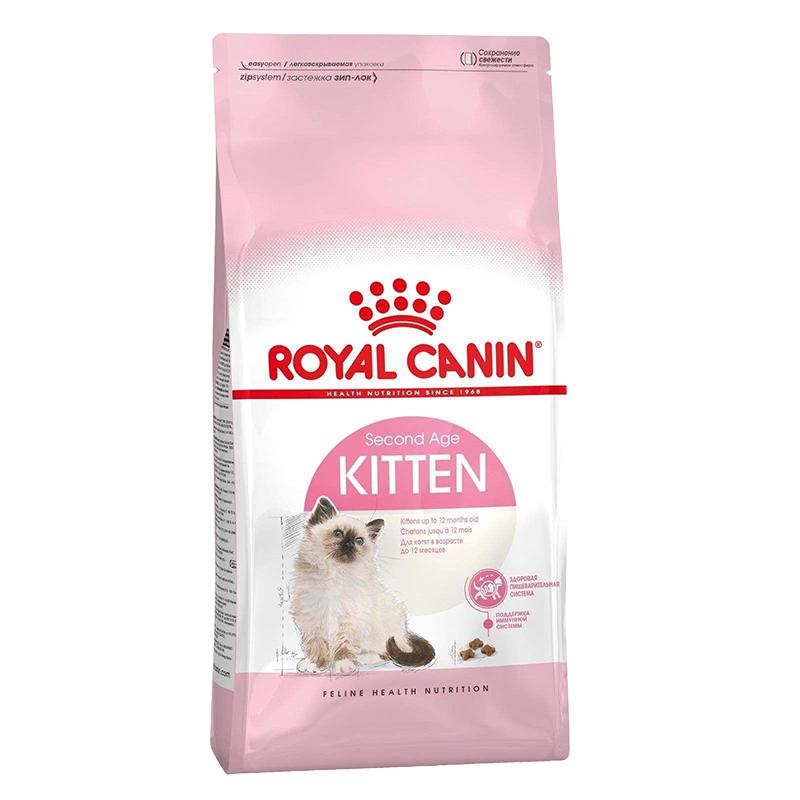 عکس بسته بندی غذای خشک گربه رویال کنین مدل Kitten وزن 1 کیلوگرم