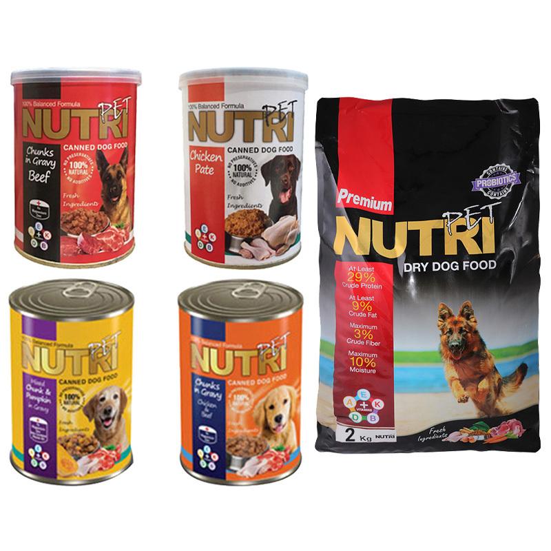 عکس باندل بسته غذای سگ نوتری مدل Nutri Premium Pack مجموعه 5 عددی