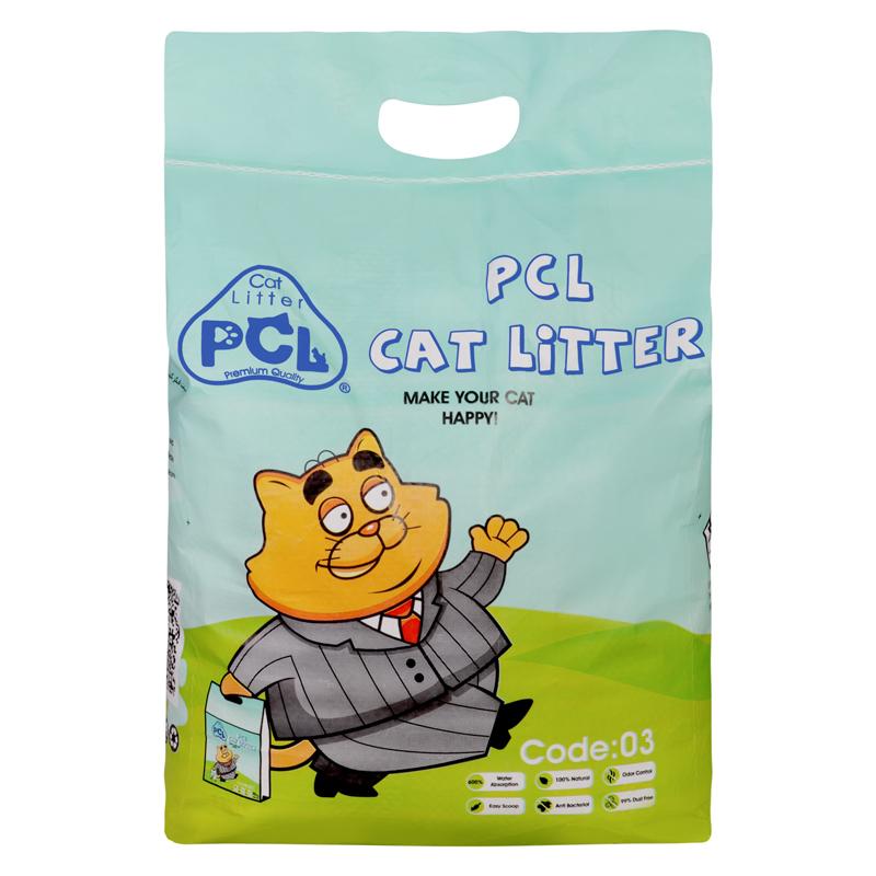 عکس بسته بندی خاک گربه پی سی ال مدل PCL03 وزن 10 کیلوگرم