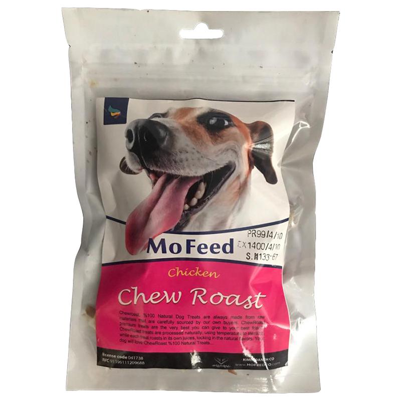 عکس بسته بندی تشویقی سگ مفید مدل Chicken Chew Roast وزن 100 گرم