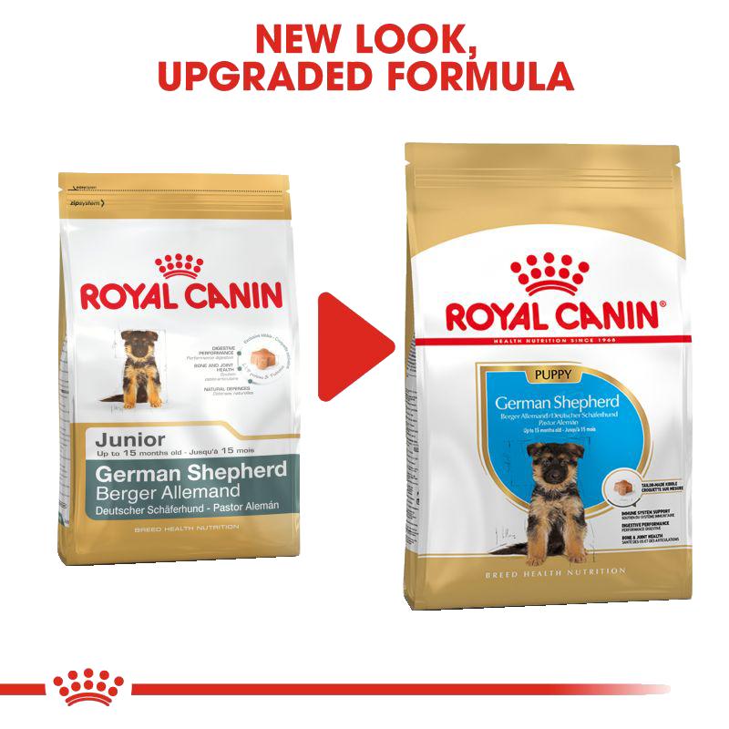 عکس تغییر بسته بندی غذای خشک توله سگ رویال کنین مدل German Shepherd Puppy وزن 3 کیلوگرم