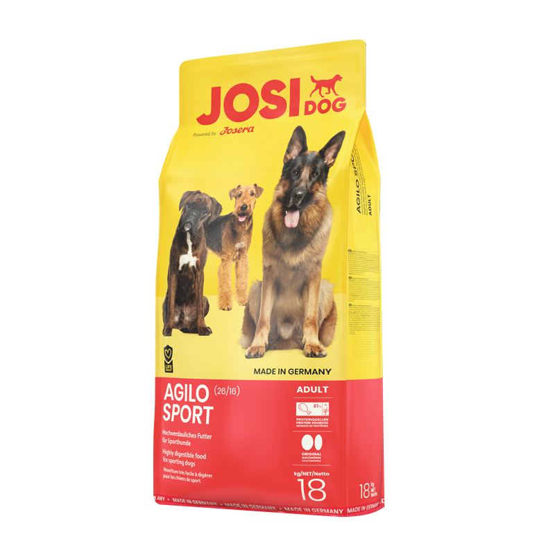 عکس بسته بندی تبلیغاتی غذای خشک سگ جوسرا مدل Jusidog Ogilo Sport وزن 3 کیلوگرم