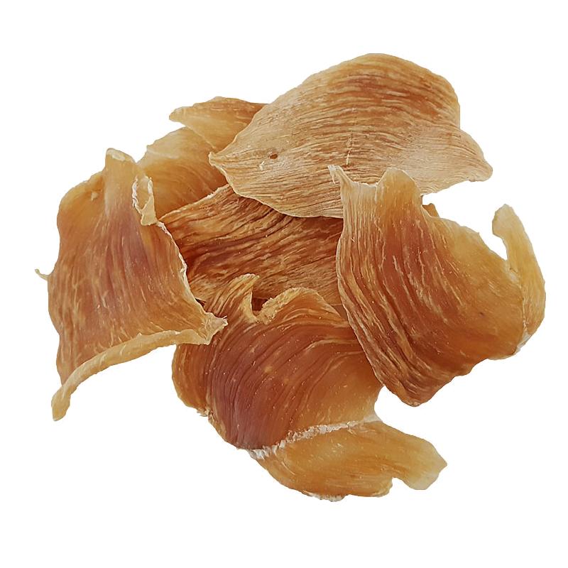 عکس محصول تشویقی گربه هاپومیل مدل Chicken Chest Chips وزن 50 گرم
