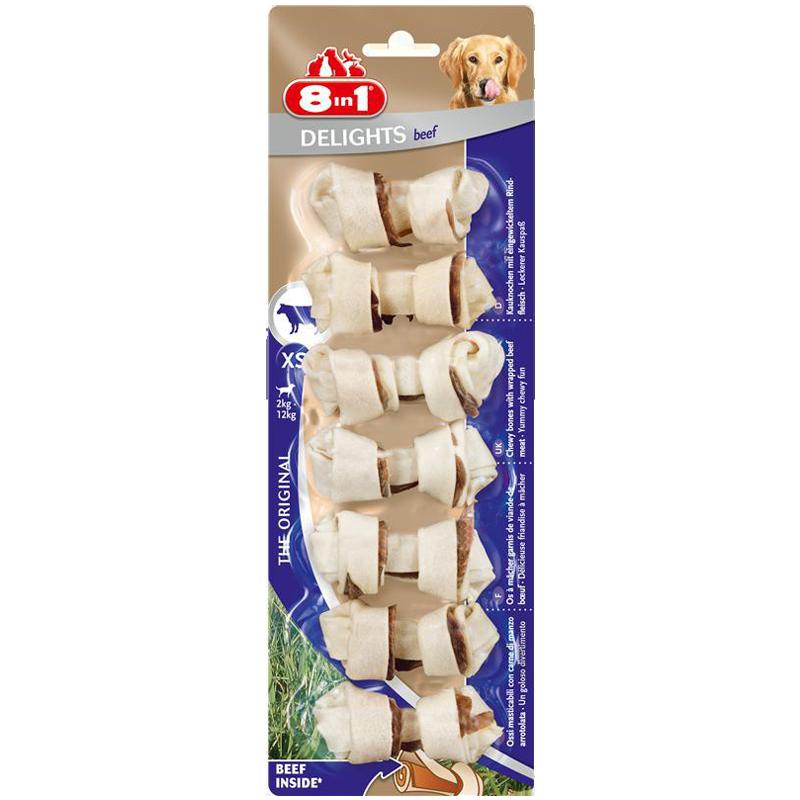 تشویقی سگ استخوانی دیلایتس با طعم بیف Delights Treat Bone Beef وزن 84 گرم