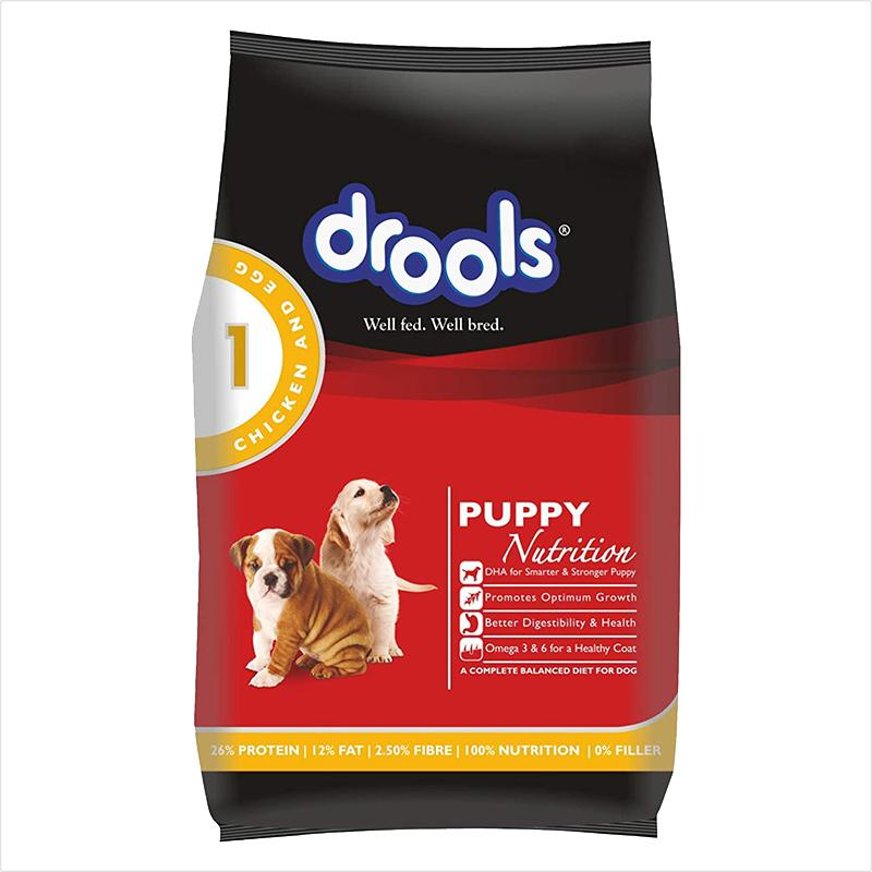 عکس بسته بندی غذای خشک توله سگ درولز مدل Puppy Chicken & Egg وزن 3.5 کلیوگرم