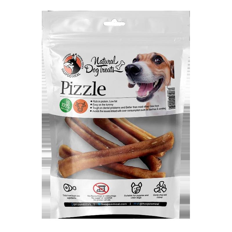 عکس بسته بندی تشویقی سگ هاپومیل مدل Pizzle وزن 100 گرم