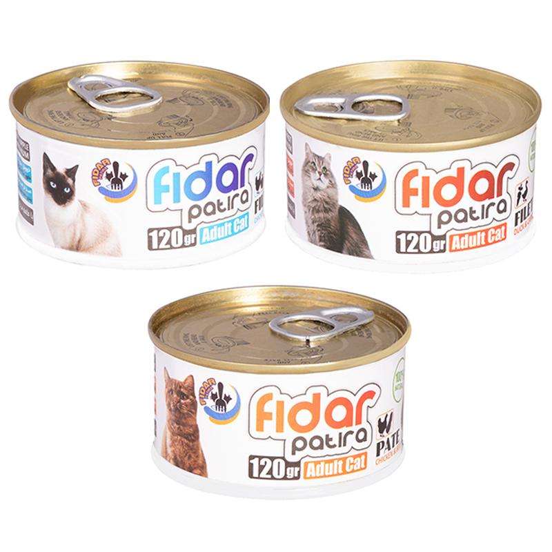 عکس باندل بسته کنسرو غذای گربه فیدار مدل Adult Pack بسته 3 عددی