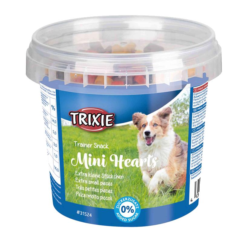 عکس بسته بندی تشویقی سگ تریکسی مدل Mini Hearts با طعم مخلوط وزن 200 گرم