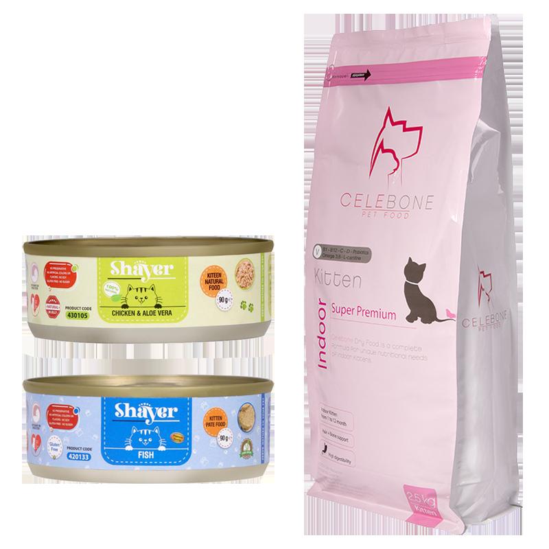 عکس باندل بسته غذای بچه گربه سوپر پرمیوم مدل Kitten Pack مجموعه ۳ عددی
