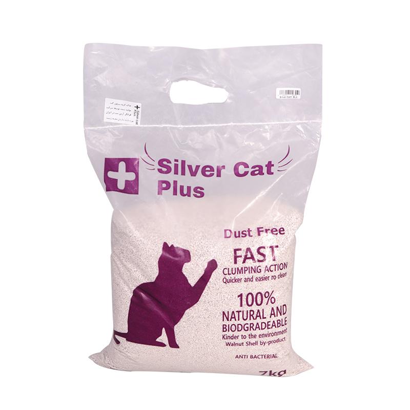 عکس بسته بندی تبلیغاتی خاک گربه سیلورکت پلاس وزن 7 کیلوگرم
