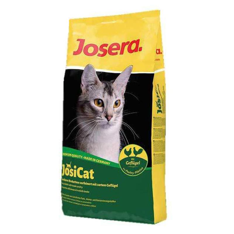 عکس بسته بندی غذای خشک گربه جوسرا مدل Josicat Poultry وزن 10 کیلوگرم