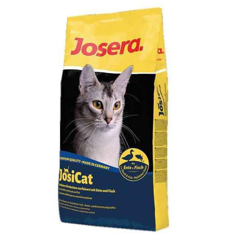 عکس بسته بندی غذای خشک گربه جوسرا مدل Josicat duck Fish وزن 3 کیلوگرم + 300