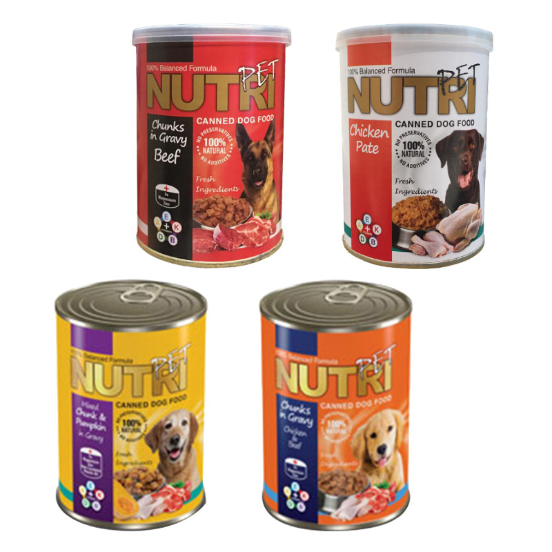 عکس باندل بسته کنسرو غذای سگ نوتری مدل Nutri Pack وزن 425 گرم مجموعه 4 عددی