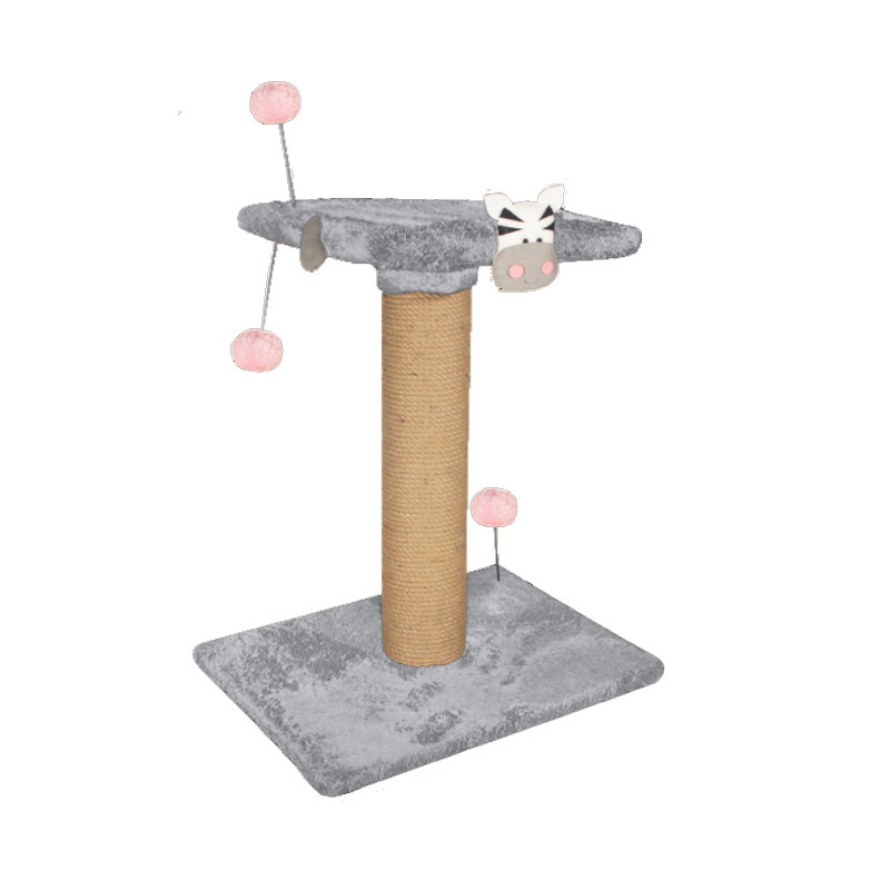 عکس اسکرچر دو طبقه نیناپت مدل عروسک دار رنگ طوسی صورتی