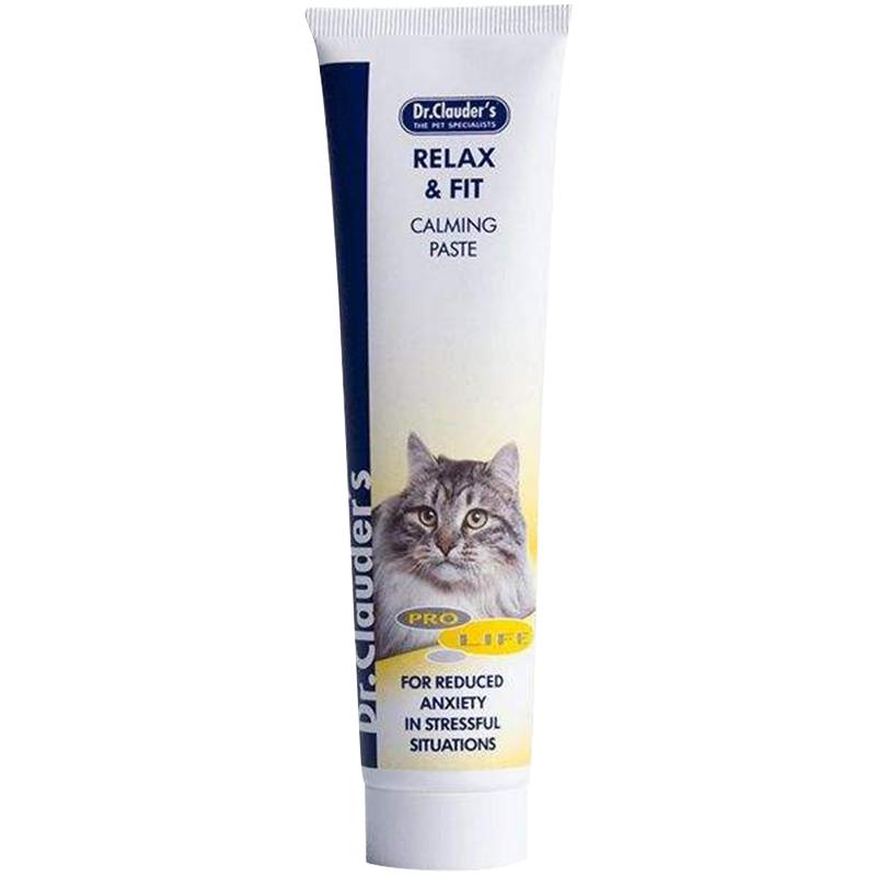 عکس بسته بندی خمیر ویتامینه و آرامش بخش گربه دکتر کلادرز مدل Relax & Fit وزن 100 گرم
