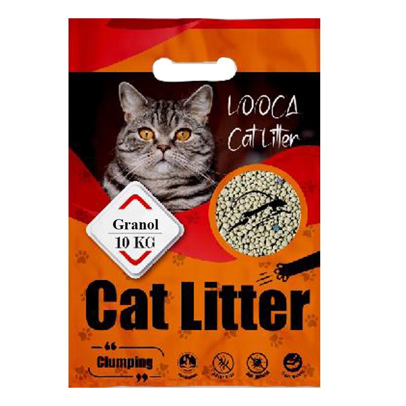 عکس بسته بندی خاک گربه لوکا مدل Granola وزن 10 کیلوگرم