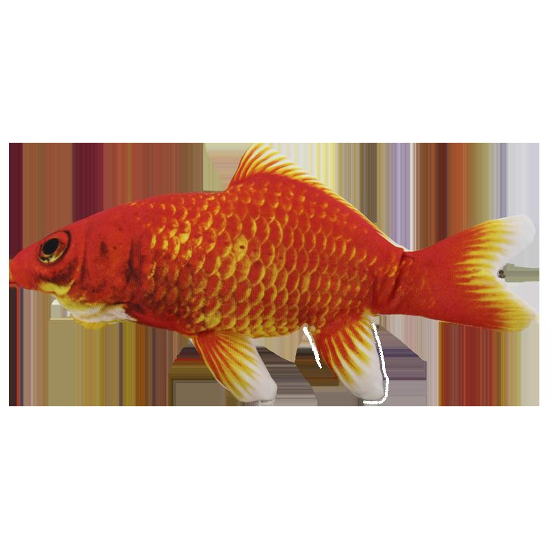 عروسک بازی گربه مدل ماهی پولیشی قرمز