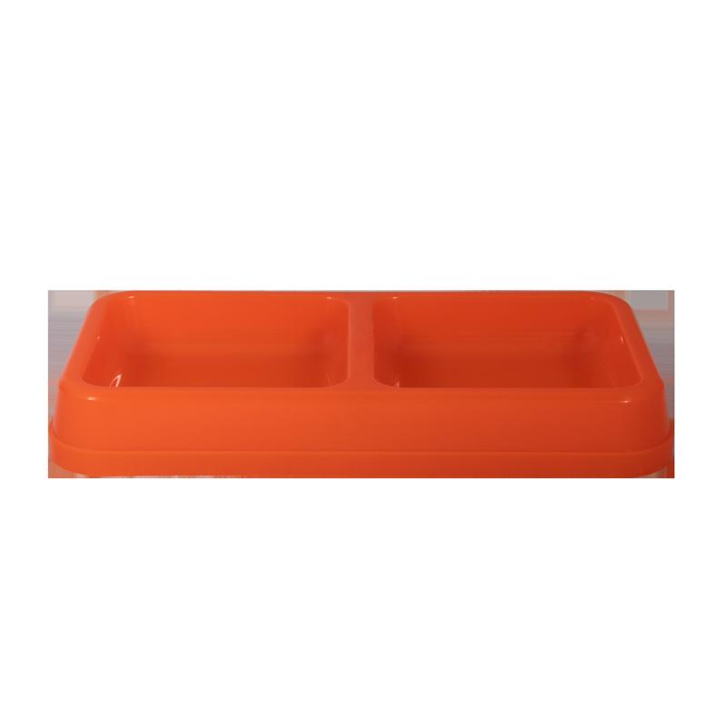 ظرف غذای دوقلو حیوانات آلوین مدل میشو رنگ نارنجی 2