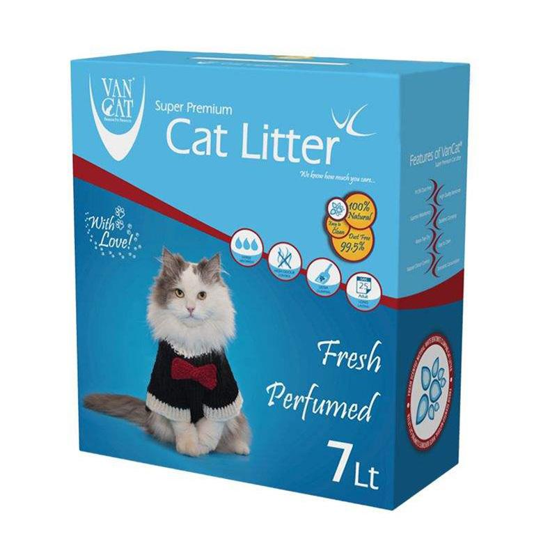 عکس بسته بندی خاک گربه ون کت مدل Fresh Prefumed حجم 7 لیتر
