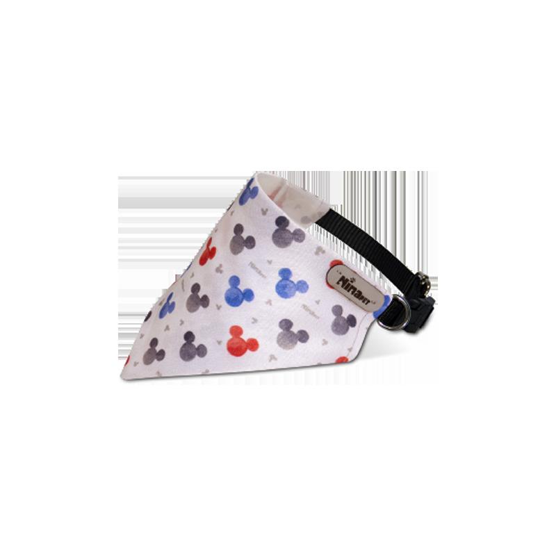 قلاده و دستمال گردن سگ نیناپت مدل طرح دار سایز کوچک خرسی